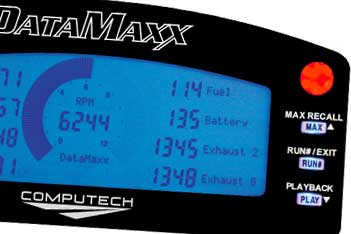 Computech DataMaxx LCD Dash Cluster for Drag Racing and Tractor Pulling