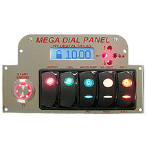 Elite Mega Dual View Dial Panel Chrome