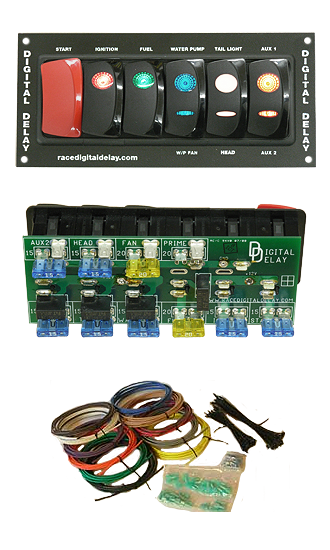 Digital Delay Racing Switch Panel Black All switch panel computech race car switch panel wiring diagram at readyjetset.co