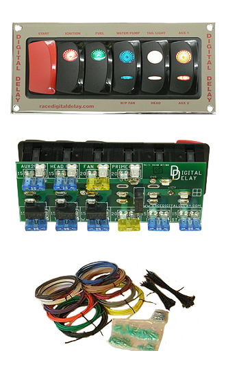 Digital-Delay-Racing-Switch-Panel-Chrome-All