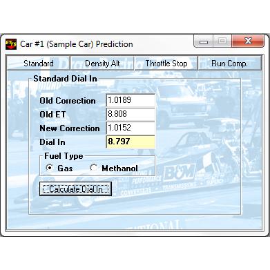 RaceBase Drag Pro Electronic Log Book ET Prediction Software