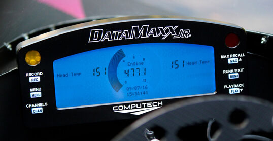 DataMaxx Jr Dragster Data Logger - The first in car dash allowed for junior dragsters