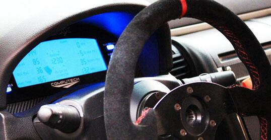 DataMaxx Data Logger in the cockpit of a race car