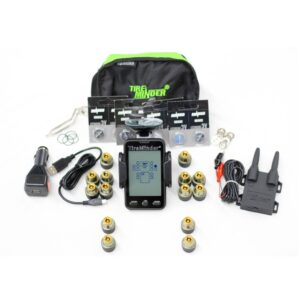14 Sensor Motor Coach Tow Behind Tire Pressure Monitor System TPMS with stand alone display