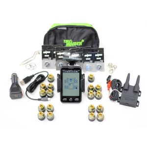 18 Wheeler Tire Pressure Monitor System TPMS with Stand Alone Display Unit