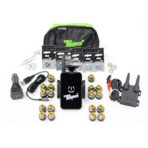 18 Sensor Eighteen Wheeler Tire Pressure TPMS Kit with Phone App