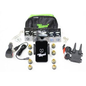 Boat Trailer Tire Pressure Monitoring System with 8 Sensors and Phone App