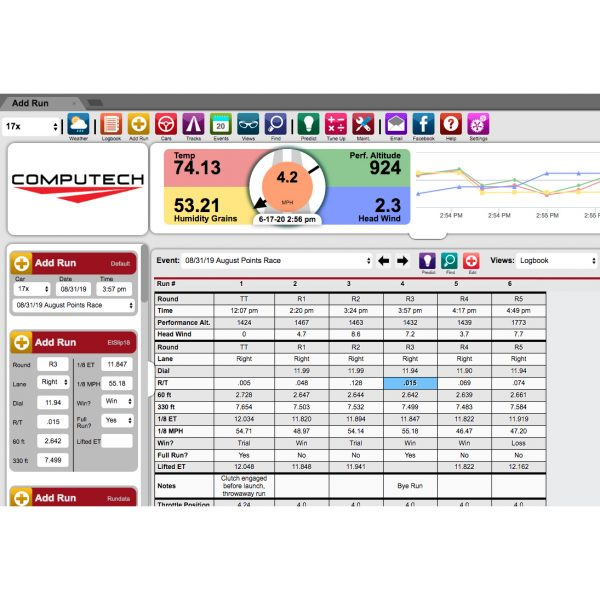 Computech RaceBase Logbook Software for Drag Racing